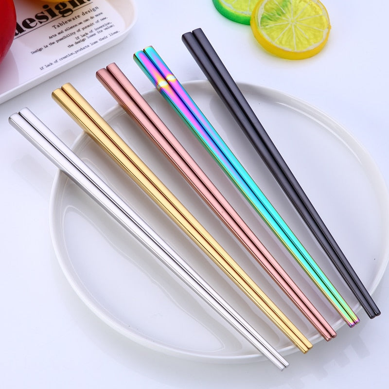 Stainless Steel Chopsticks - The Quirky Home Co