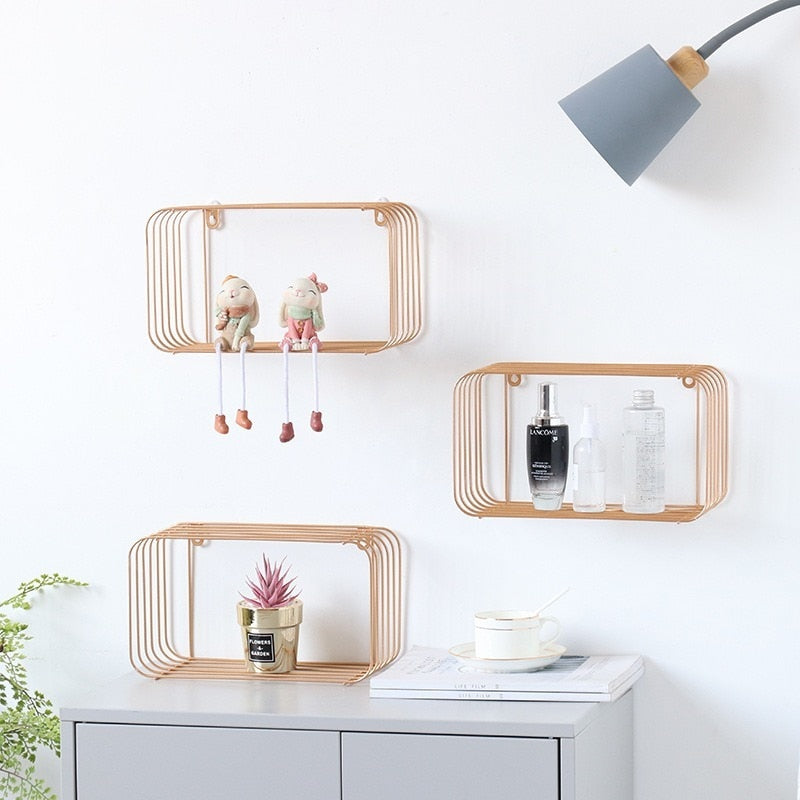 Iron Decorative Floating Shelf - The Quirky Home Co