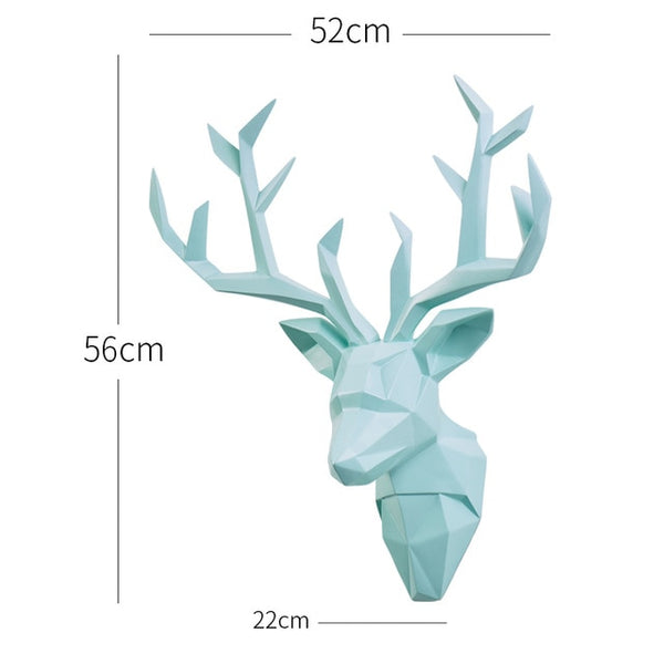 Large 3D Deer Head - The Quirky Home Co