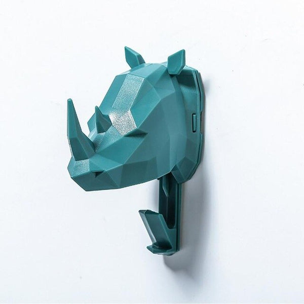 Colourful Animal Head Wall Hooks - The Quirky Home Co