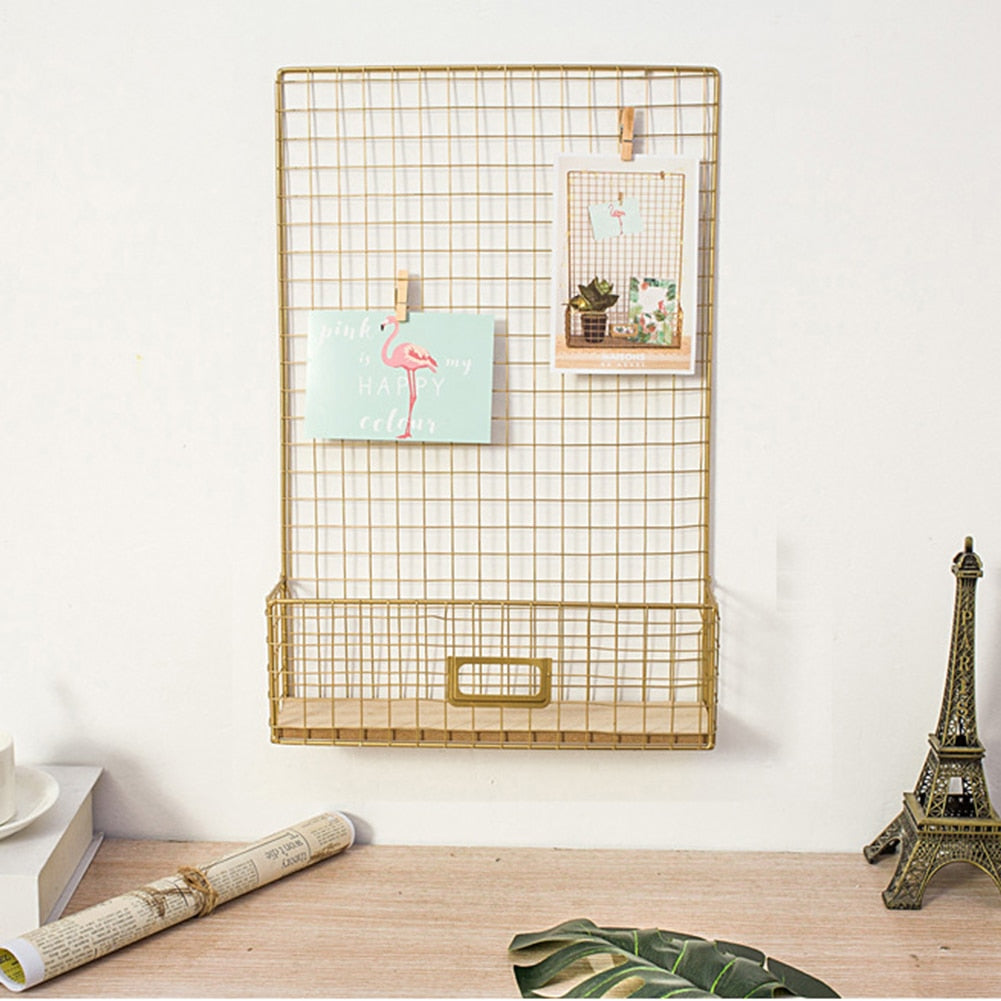 Gold Hanging Memo Board - The Quirky Home Co