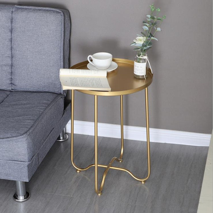 Small Round Gold Coffee Table - The Quirky Home Co