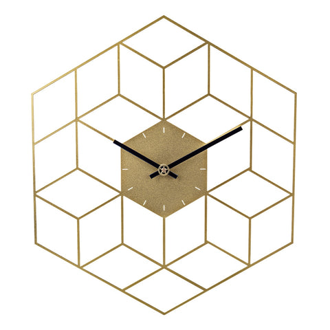 Cube Wall Clock - (3 colours)