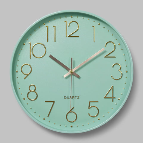 Nordic Wall Clock - Mint Green OR Pink