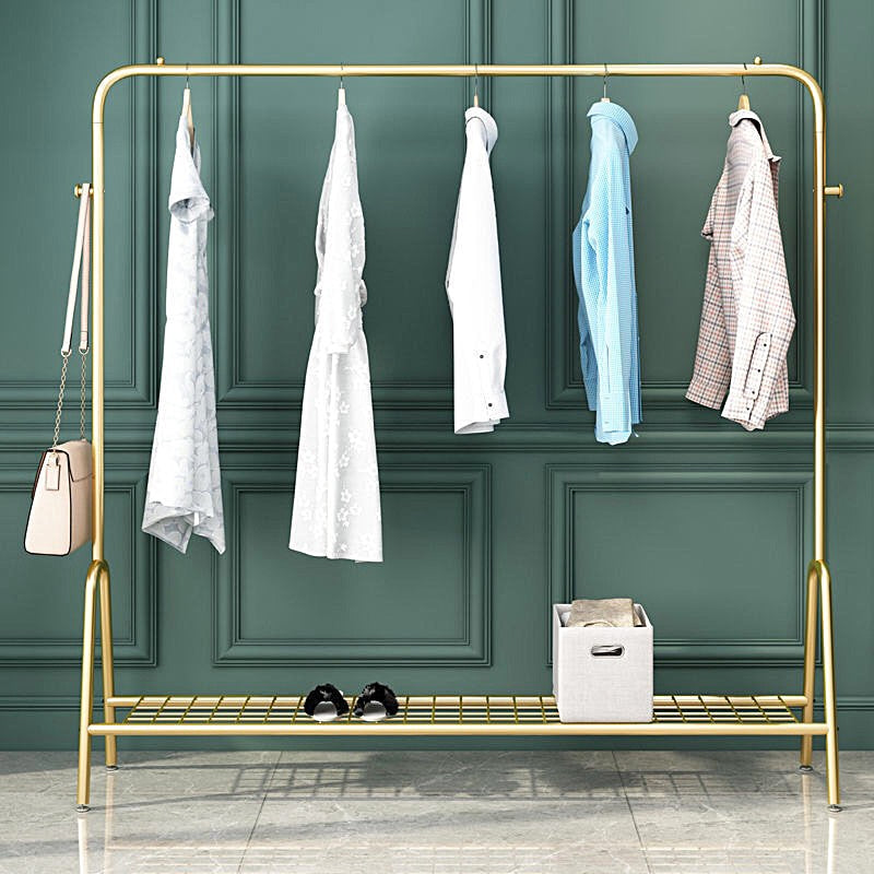 Luxury Metal Clothes Rack (Gold)