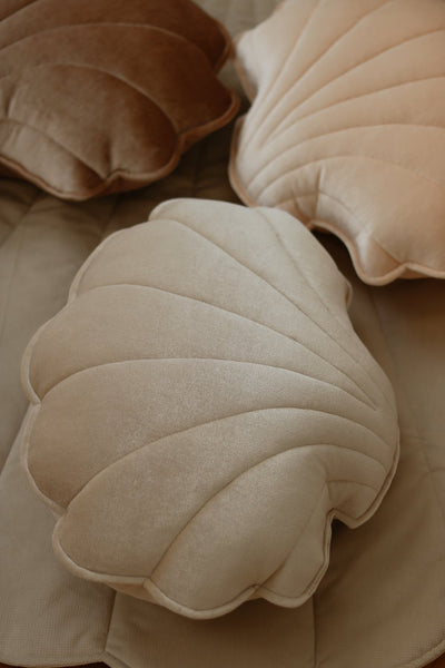 Cream Pearl Velvet Shell Cushion