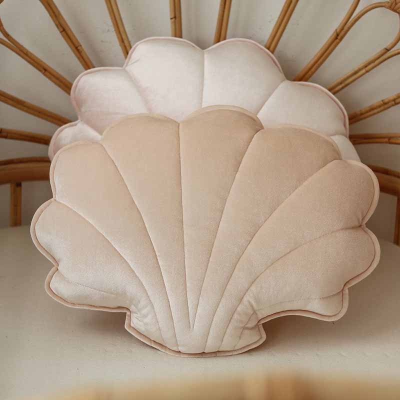 Apricot Pearl Velvet Shell Cushion