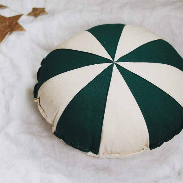 Circus Green Patchwork Ring Cushion - The Quirky Home Co