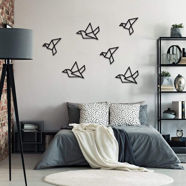 Bird - Metal Wall Art, Set of 6 - The Quirky Home Co