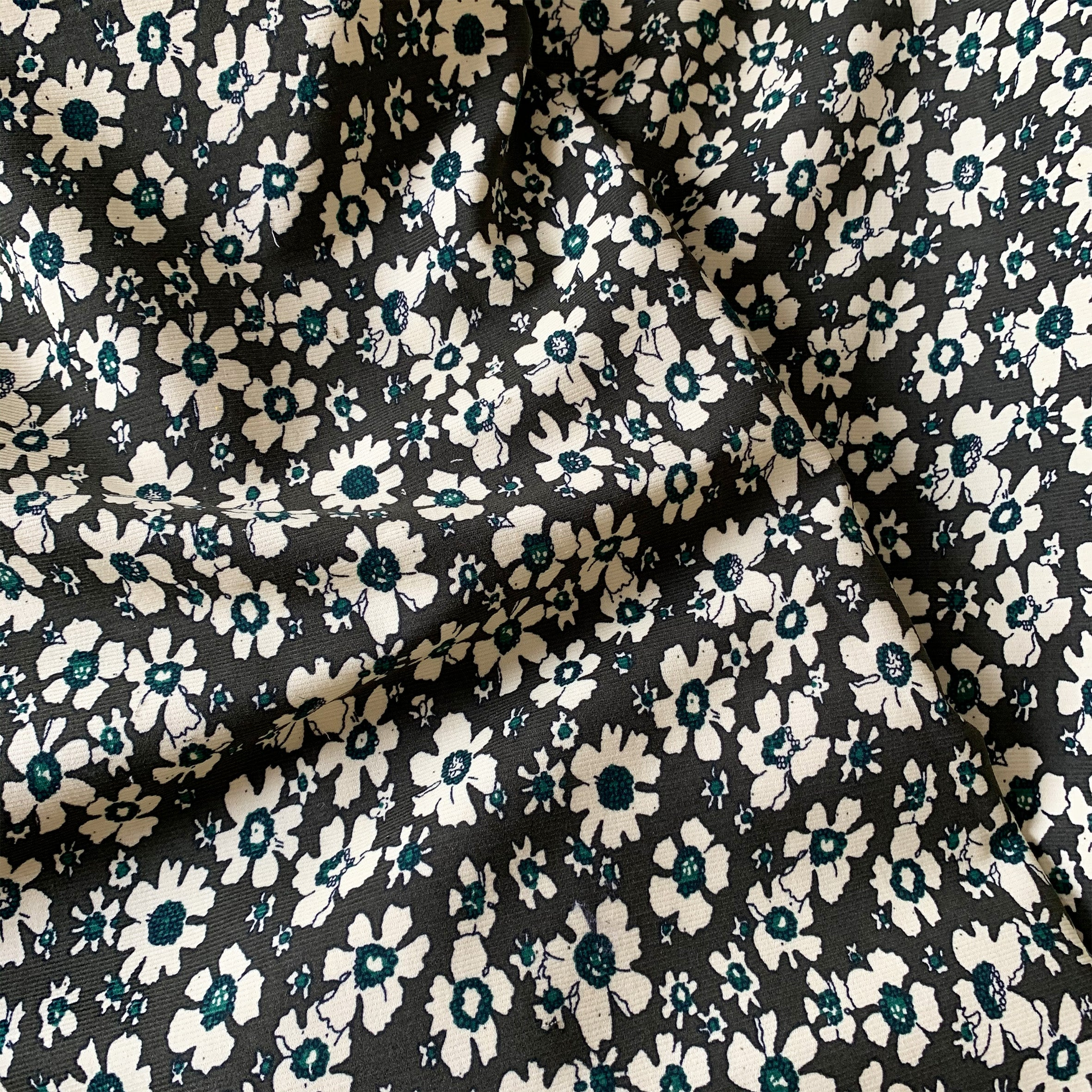 OLIVE FLORAL NEEDLECORD CORDUROY COTTON FABRIC
