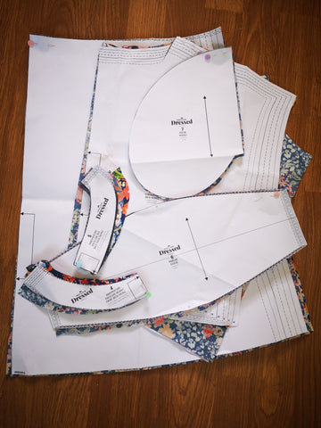 Image of paper pattern pieces
