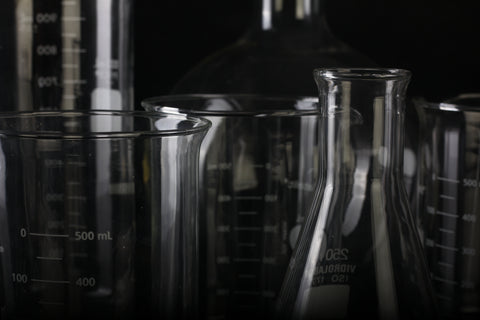 test tubes measuring flask chemical
