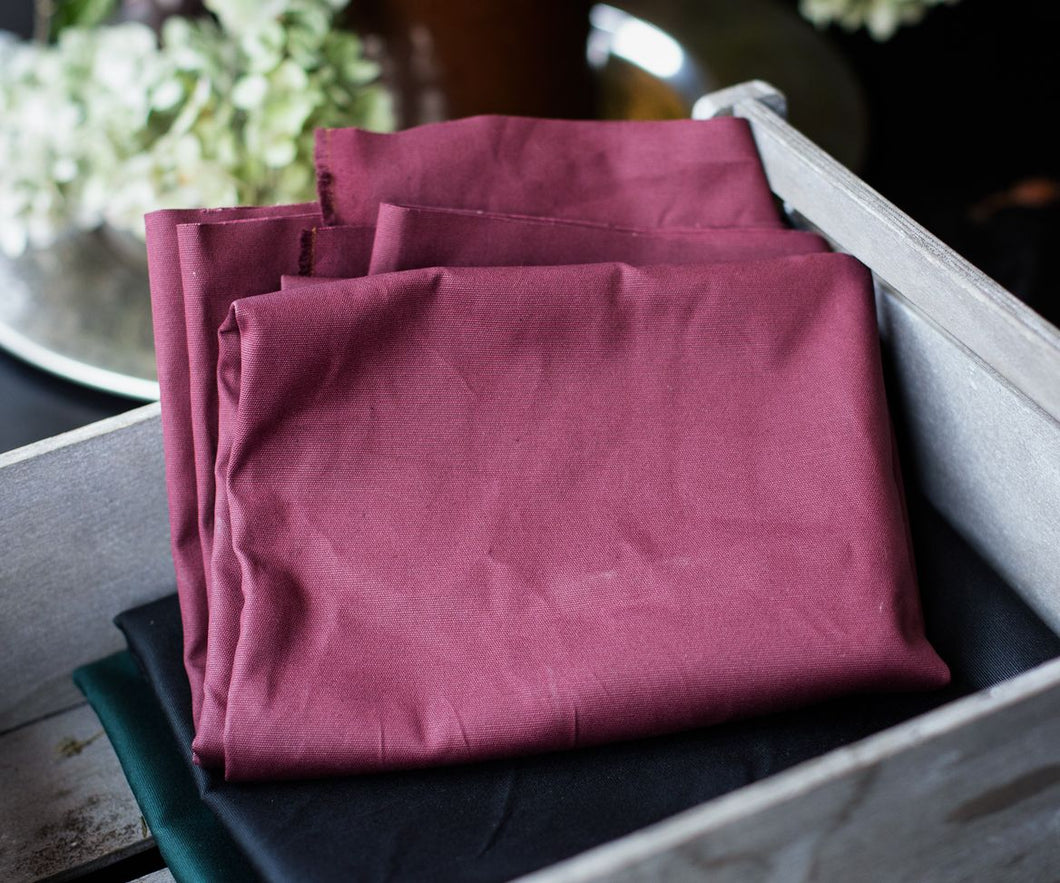 MIND THE MAKER ORGANIC DRY WAXED COTTON IN RED WINE