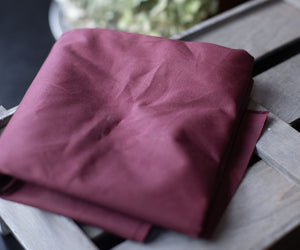 ORGANIC DRY WAXED ORGANIC COTTON WINE RED