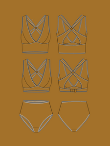 MADE MY WARDROBE JOSIE BRA & PANTS SET