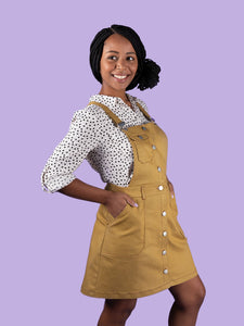 TATB TILLY AND THE BUTTONS BOBBI PINAFORE DRESS SKIRT PATTERN