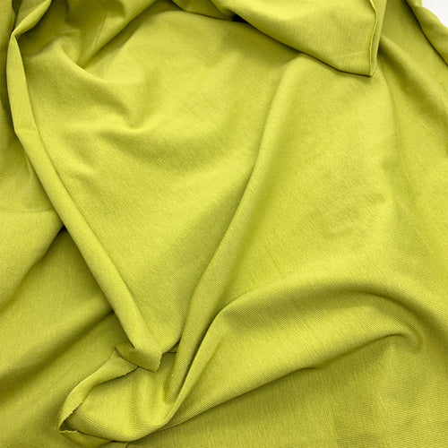 LIME GREEN ORGANIC STRETCH JERSEY COTTON