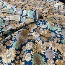Load image into Gallery viewer, VINTAGE FLORAL BLUE COTTON POPLIN