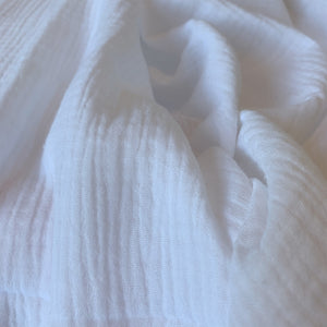 WHITE COTTON DOUBLE GAUZE