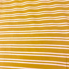 Load image into Gallery viewer, OCHRE COTTON JERSEY WITH CREAM STRIPE