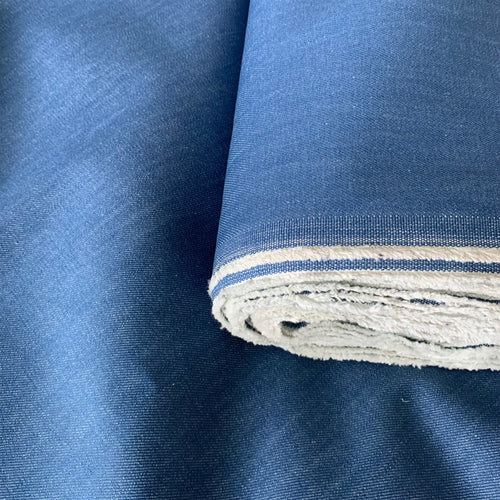 ORGANIC COTTON DENIM FABRIC IN MEDIUM BLUE