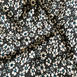 OLIVE FLORAL PRINTED NEEDLECORD CORDUROY FABRIC