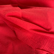 Load image into Gallery viewer, RED COTTON DOBBY WITH SPOT REMNANT 89CM X 135CM