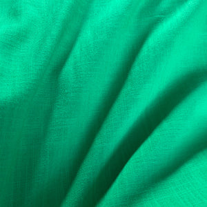 EMERALD GREEN LINEN LOOK COTTON