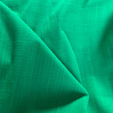 Load image into Gallery viewer, EMERALD GREEN LINEN LOOK COTTON FABRIC