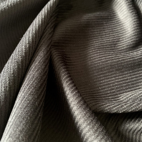 BLACK COTTON CORDUROY FABRIC 8 WALE