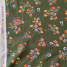 Load image into Gallery viewer, OLIVE FLORAL COTTON JERSEY