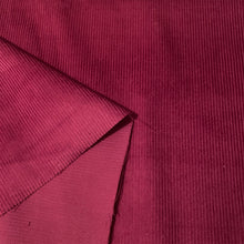 Load image into Gallery viewer, COTTON CORDUROY 8 WALE IN WINE