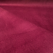 Load image into Gallery viewer, WINE RED COTTON CORDUROY 8 WALE FABRIC