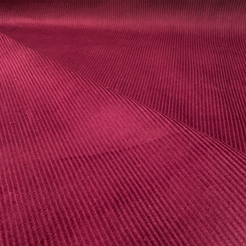WINE RED COTTON CORDUROY 8 WALE FABRIC