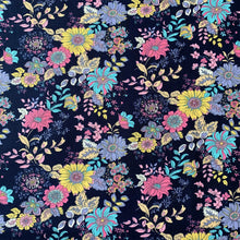 Load image into Gallery viewer, RETRO BLOOM FLORAL COTTON POPLIN 41CM X 110CM