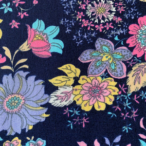 RETRO BLOOM FLORAL COTTON POPLIN 41CM X 110CM
