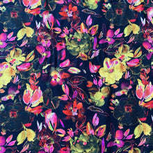 Load image into Gallery viewer, BLACK AND BRIGHT FLORAL JERSEY