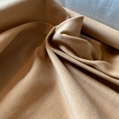 BEIGE COTTON NEEDLECORD FABRIC