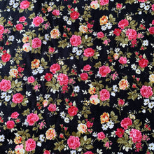 Load image into Gallery viewer, ROSE FLORAL PRINTED NEEDLECORD REMNANT 120CM X 111CM
