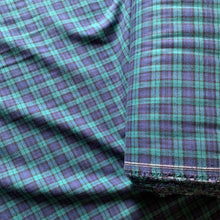 Load image into Gallery viewer, GREEN & BLUE BRUSHED COTTON CHECK