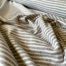 Load image into Gallery viewer, GREY MELANGE STRIPE COTTON JERSEY