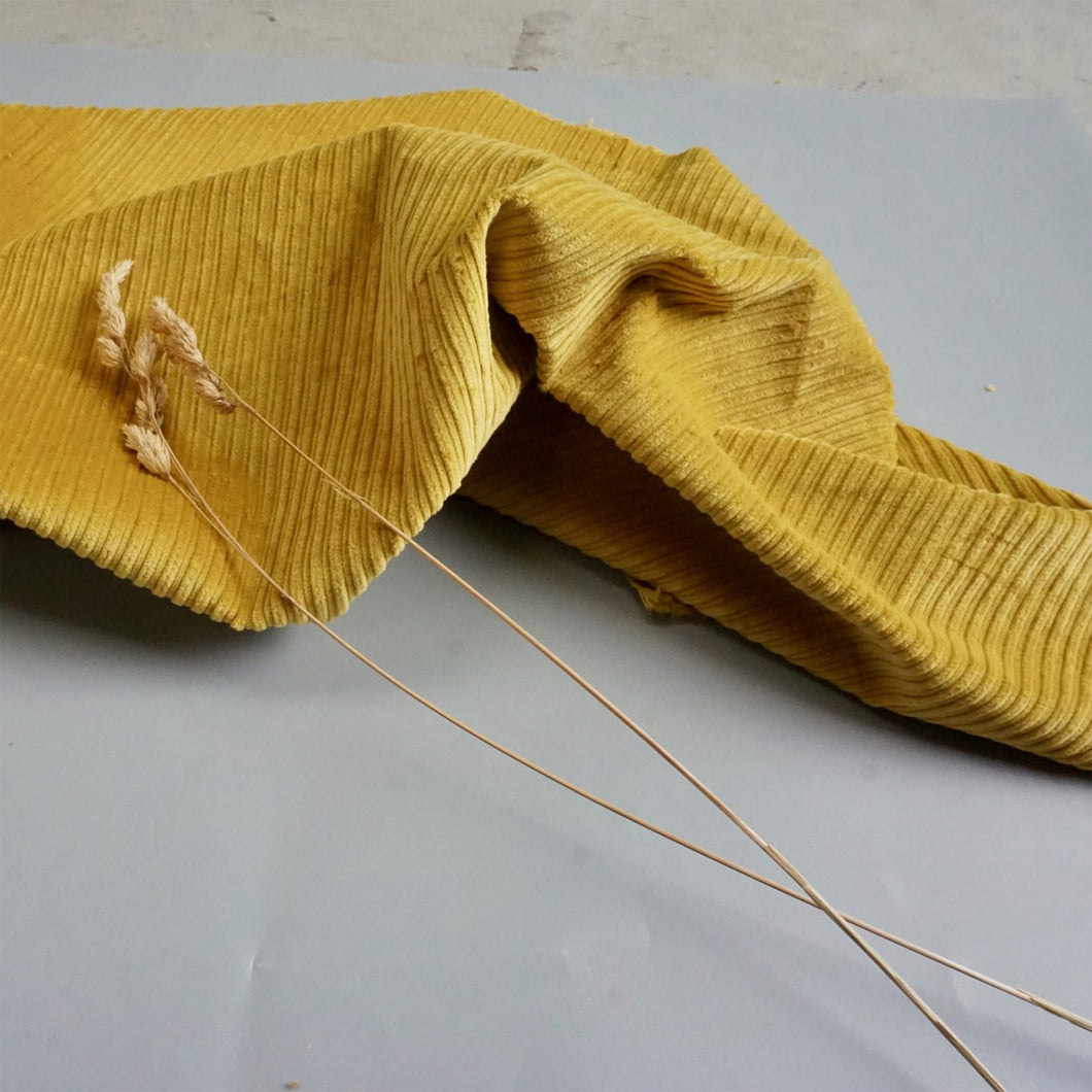 STRETCH CHUNKY CORDUROY IN TURMERIC YELLOW