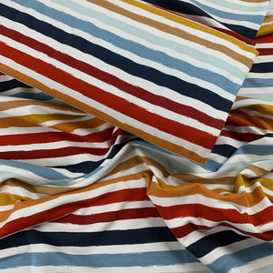 PAINTED STRIPE FRENCH TERRY