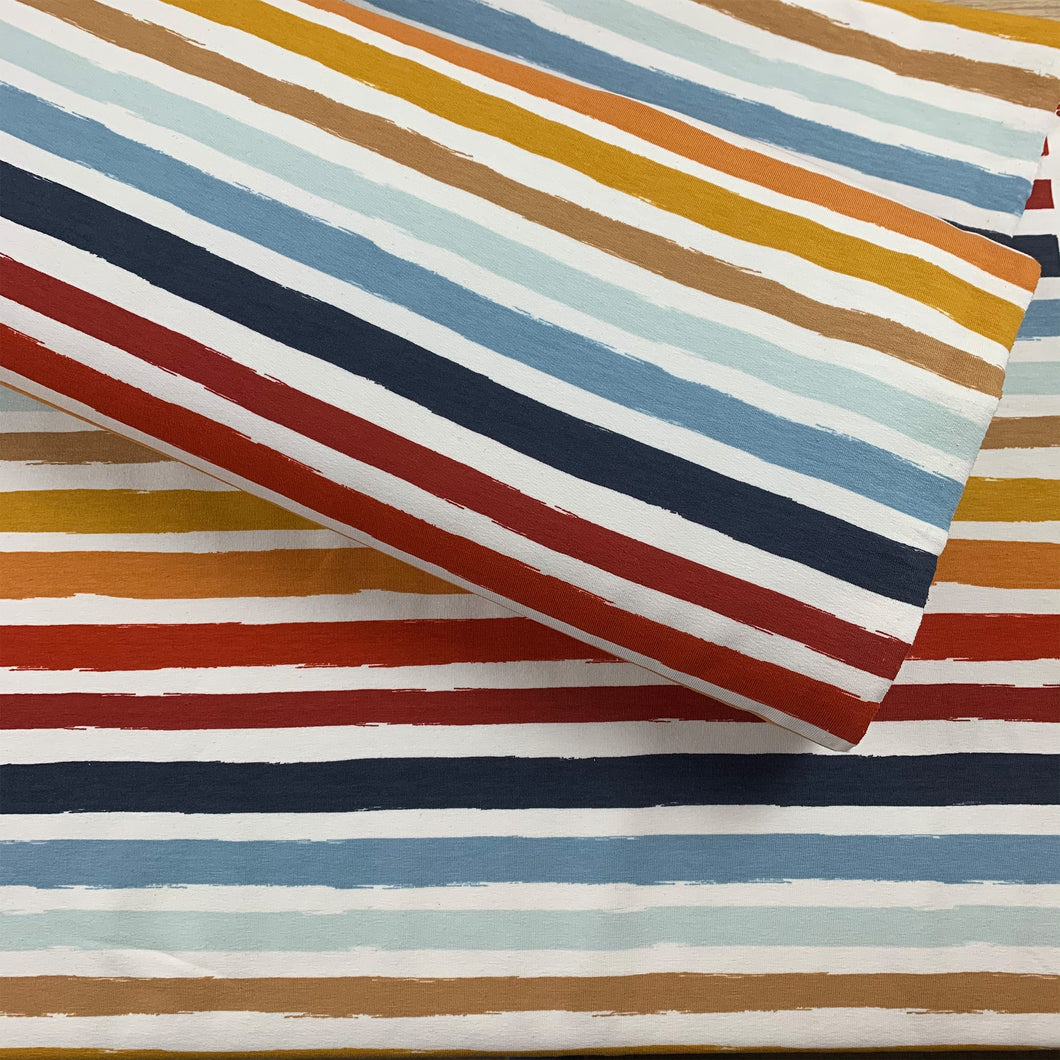 PAINTED STRIPE FRENCH TERRY FABRIC