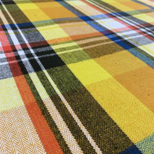 COTTON HERRINGBONE CHECK REMNANT 92CM x 142CM