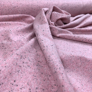 PINK MELANGE COTTON JERSEY FABRIC