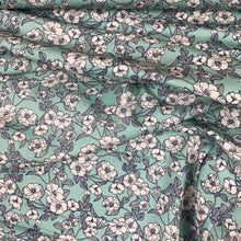Load image into Gallery viewer, MINT FLORAL COTTON POPLIN