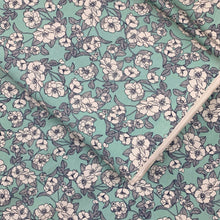 Load image into Gallery viewer, MINT FLORAL COTTON POPLIN FABRIC