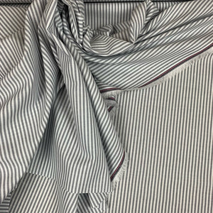STRIPED COTTON CHAMBRAY IN GREY