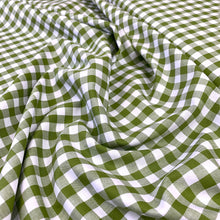 "Load image into Gallery viewer, YARN DYED COTTON GINGHAM 1/3"" IN SPRING GARDEN GREEN REMNANT 193CM X 145CM"
